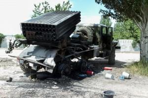 В Донецке продолжают стрелять «Грады» из жилых районов