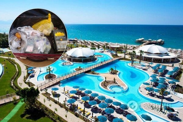Туристы из России пытались вывезти из отеля в Турции чемодан еды