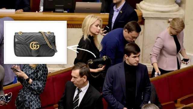 Нардеп Ирина Аллахвердиева пришла в Раду с сумкой стоимостью 46 тысяч